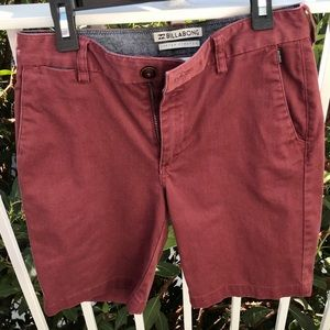 Boys Billabong Chino Shorts EUC
